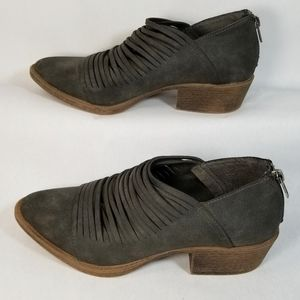 Coconuts by Matisse Grey Faux Suede Powell Booties